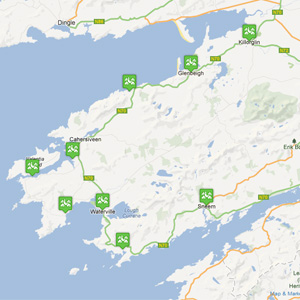 Ring Of Kerry Map Getting to and around The Ring of Kerry, Ring of Kerry Map Ring Of Kerry Map